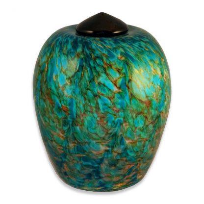Glass art cremation urns