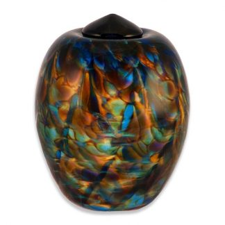 Beautiful and unique cremation urn made from glass