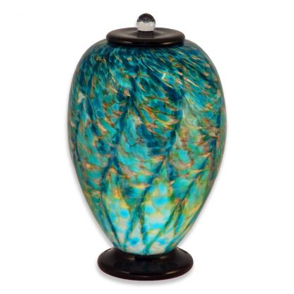 Aegean Hand Blown Glass Urns