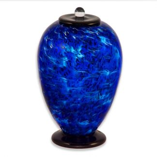 Blue Glass Cremation Urns