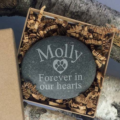 Mark your pet's passing with a custom garden stone