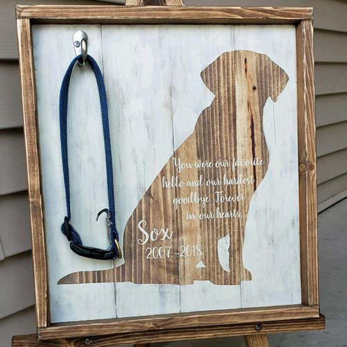 Custom Engraved Pet Memorial Plaque