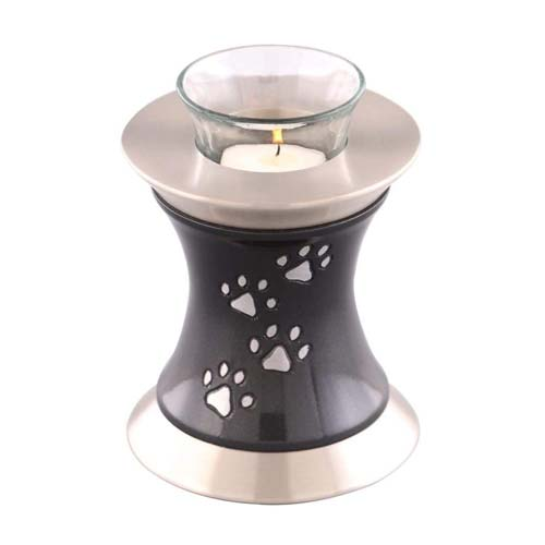 Tealight Paw Prints Pet Funeral Urn