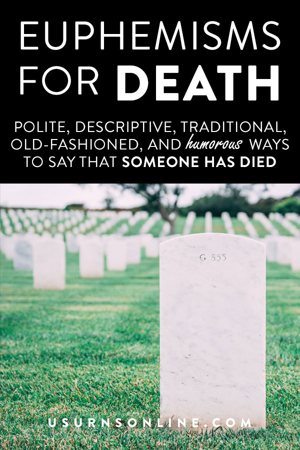 """300 ways to say """"died"""""""