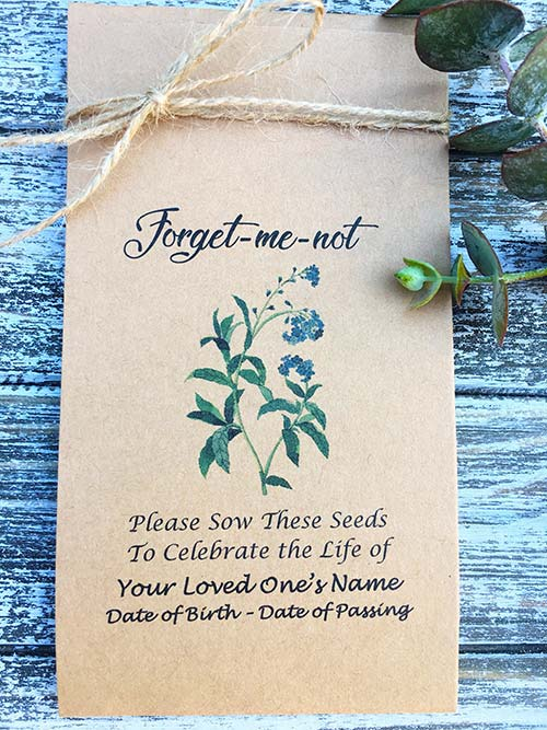 Personalized Memorial Seeds