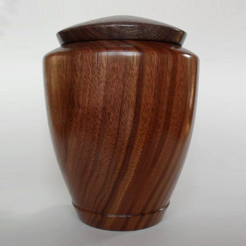 "Walnut ""Tranquility"" Hand Turned Cremation Urn"