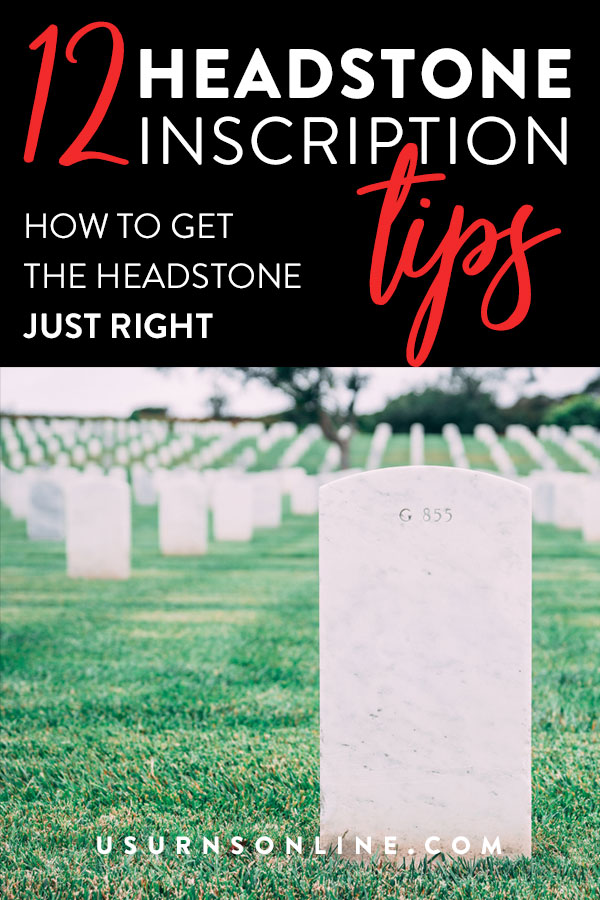 How to get the headstone inscription just right