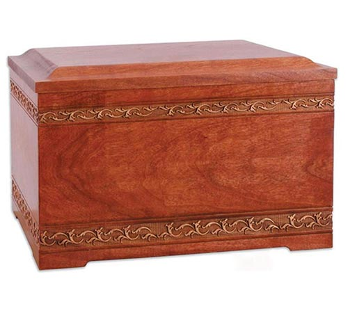 Solid Wood Cremation Urns in Cherry Wood