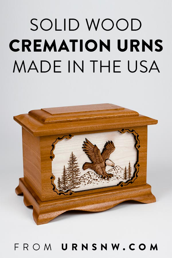 Premium real wood urns made in the USA