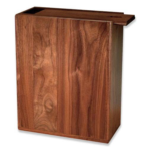 Scattering urn made in the USA from premium solid walnut wood