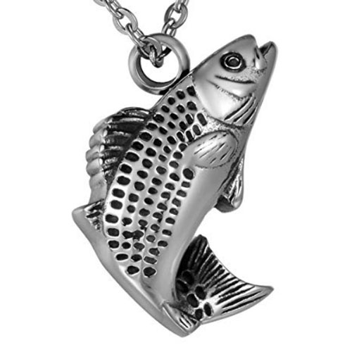 Fishing Keepsake Urn Necklace