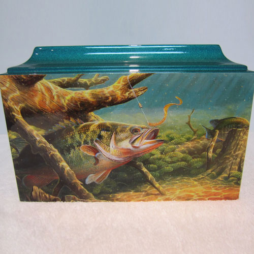 Fish Urns for Ashes - Bass Fishing Cremation Urn