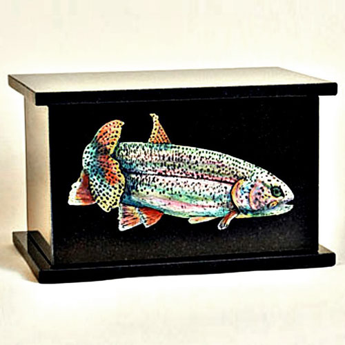 Fish Urns Black Granite Rainbow Trout