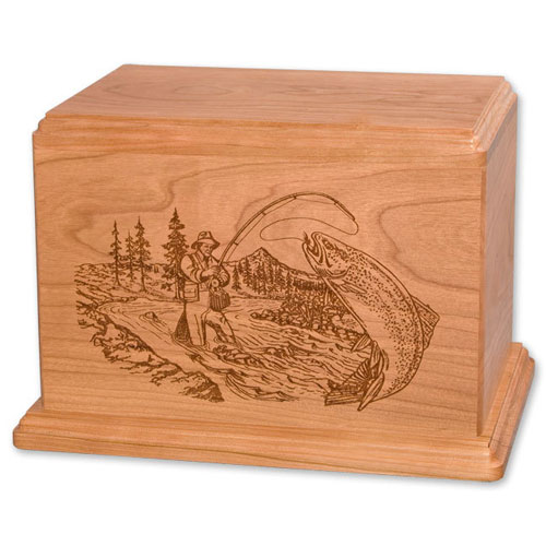 Trout Fishing Cremation Urn