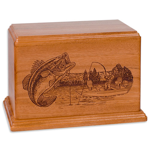 Boat Fishing Memorial Art Urn