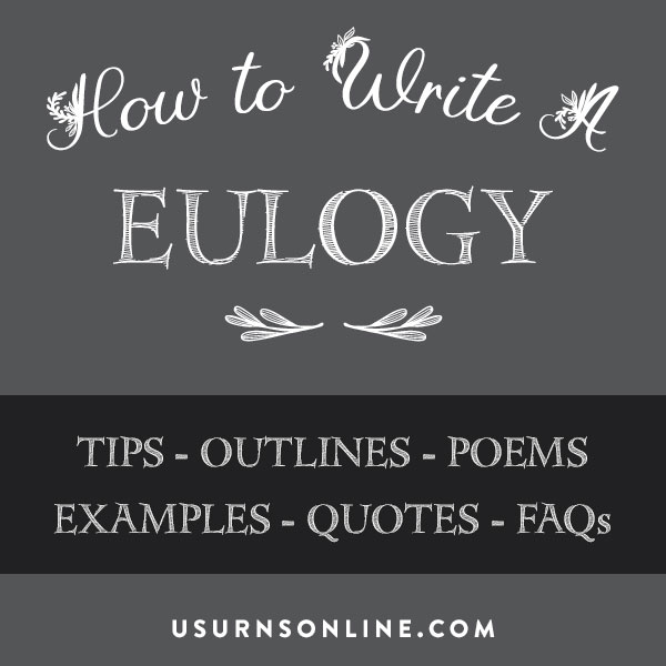 How to write a eulogy - a guide