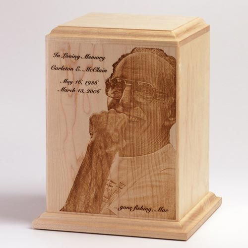 Cremation Urns with Engraved Photograph