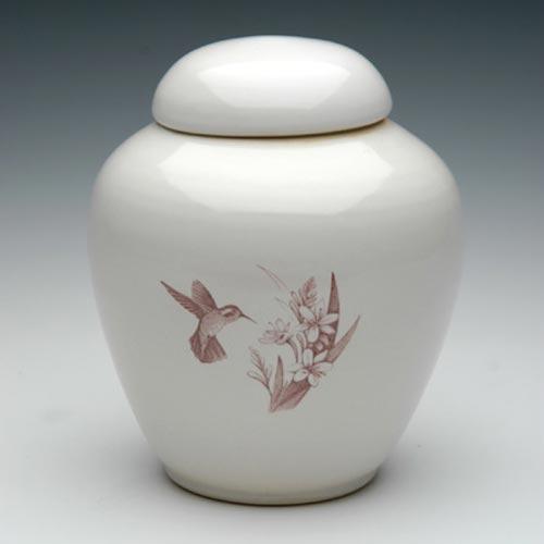 Hummingbird Ceramic Urn