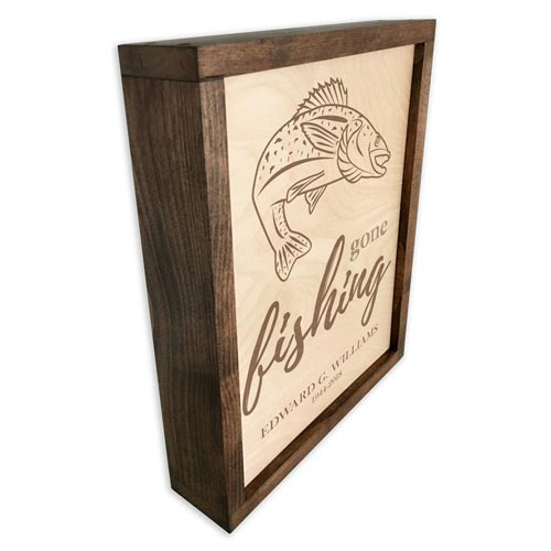 Wall Mounted Wooden Cremation Urn Plaque