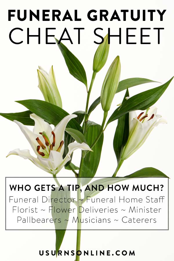 Who gets tipped at a funeral, and how much?