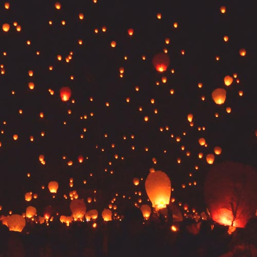 Paper lanterns to light up a Celebration of Life service