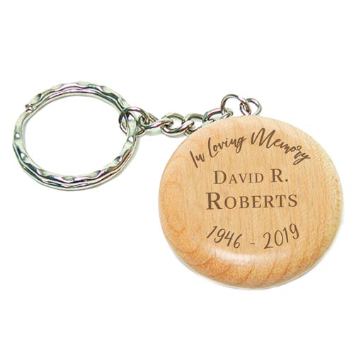 Funeral Favors - Custom Engraved Keychain