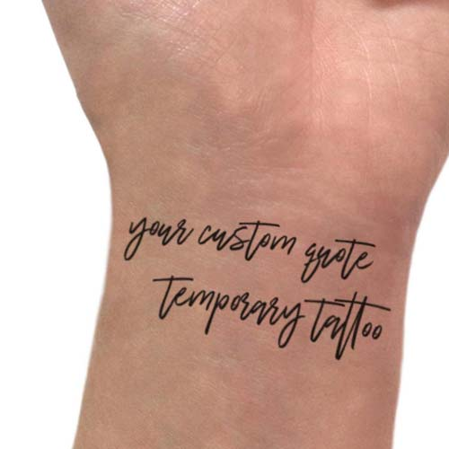 Temporary Memorial Tattoo Funeral Favor