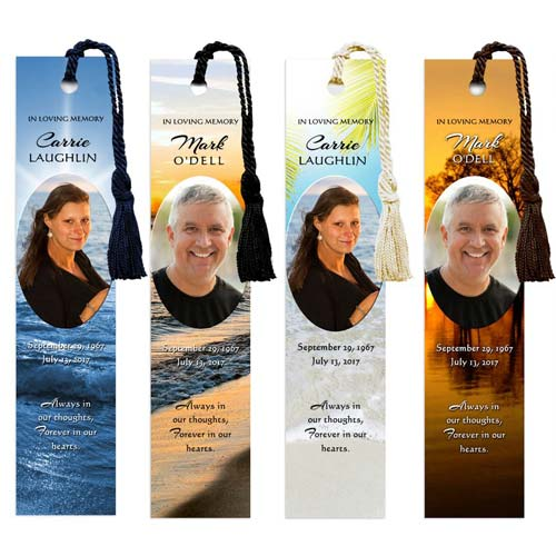 Funeral Favors- Personalized Bookmarks