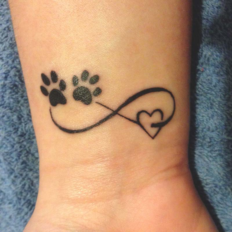 Pet memorial tattoos - Infinity