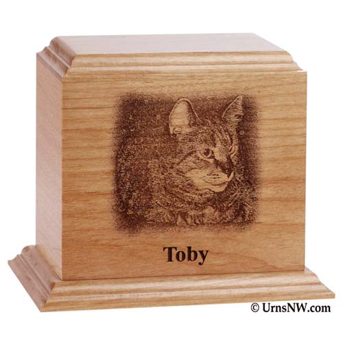 Engraved Photo Pet Cremation Urn