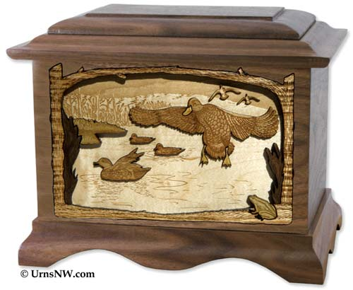 Duck Hunting Cremation Urn