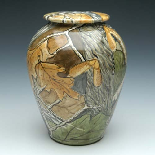 Ceramic Hunting Cremation Urn
