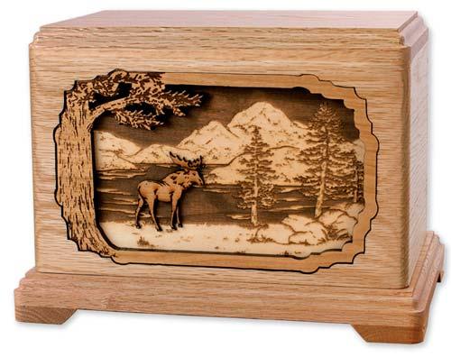 Moose Hunting Urns