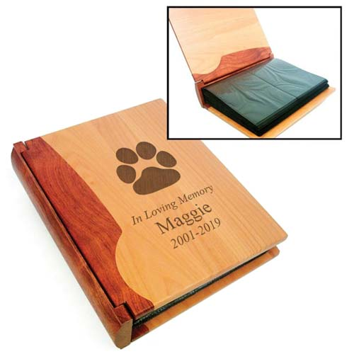 Engraved Photo Album to Honor Your Pet