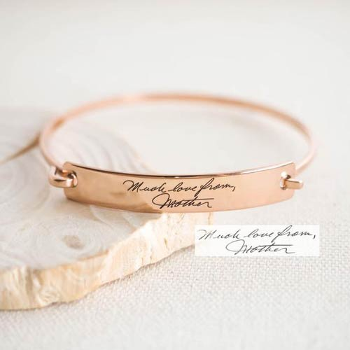 Custom handwriting bracelet memorial gift