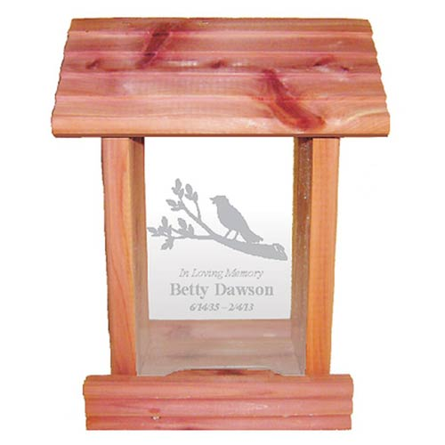 Memorial Gifts for Mother - Personalized Bird Feeder