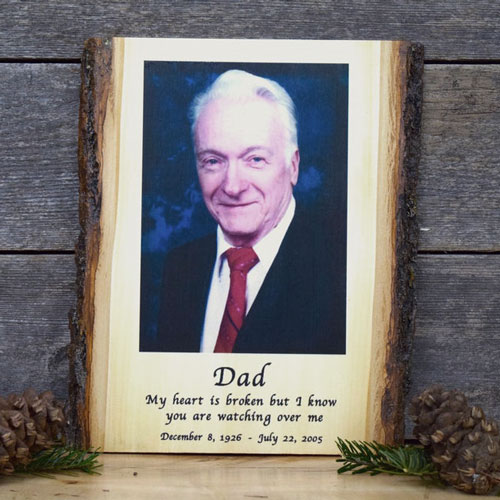 Sympathy Gifts for Men: Personalized Wooden Photo Memorial