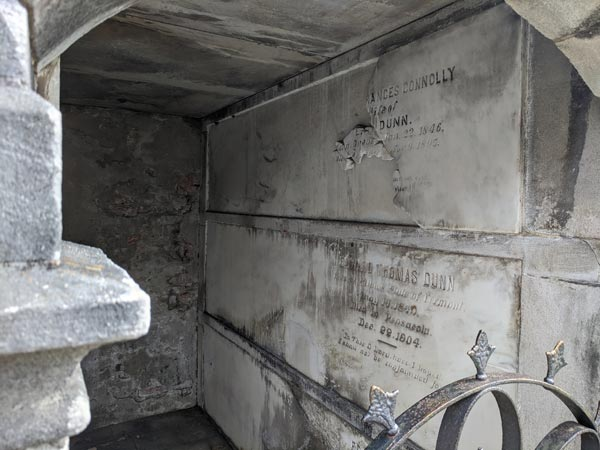 Inside a Mausoleum