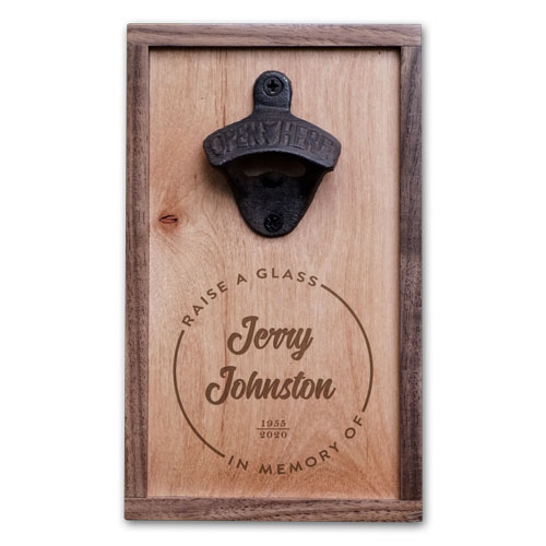 Personalized Sympathy Gift Bottle Opener