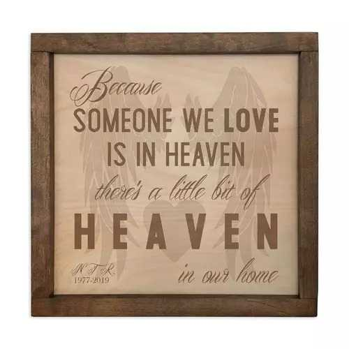 Wall Mounted Plaque Cremation Urn for Mom