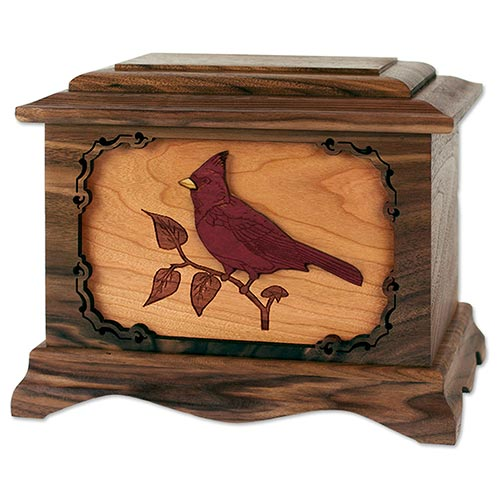 Cardinal Cremation Urn for Mother