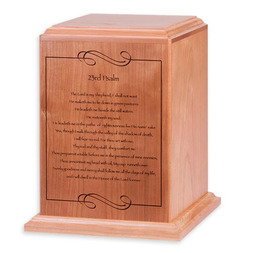 Psalm 23 Cremation Urn for Mom