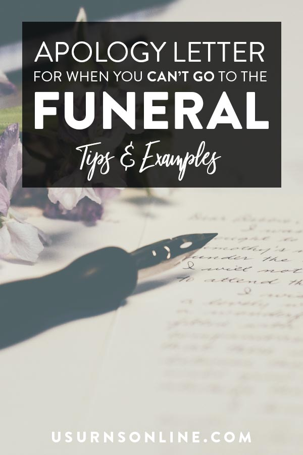 Can't Attend Funeral Apology Letter Examples