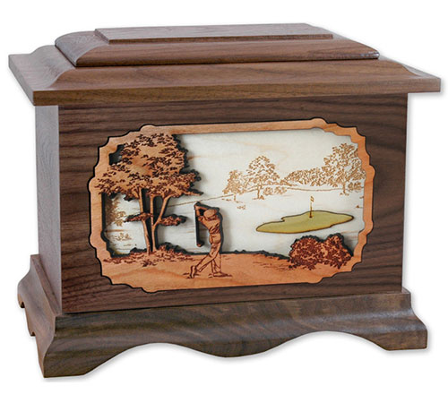 Golf Cremation Urn for Dad