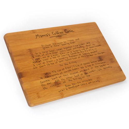 Family Recipe Cutting Board