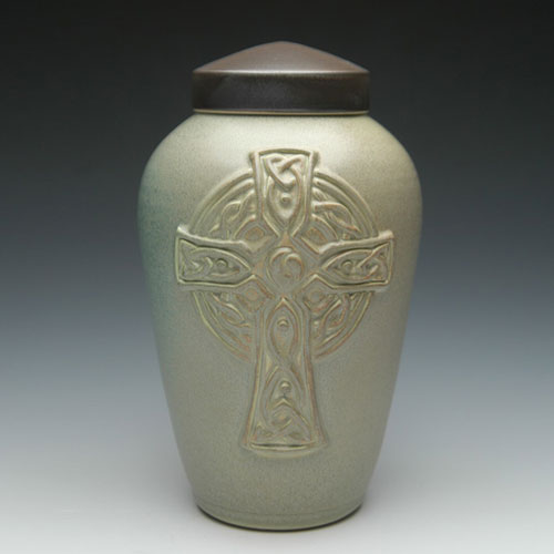 Celtic Cross Cremation Urn for Dad