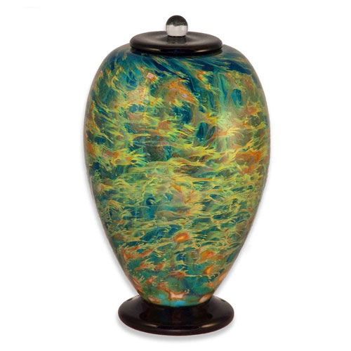 Glass Art Cremation Urn for Dad