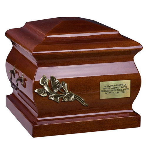 Solid Wooden Casket Urn for Father