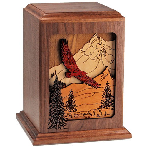 Wood Cremation Urn for Dad