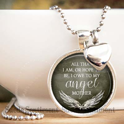 I owe it all to my Mother - Memorial Urn Necklace for Mom